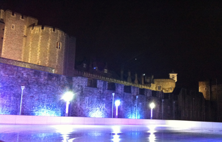 Tower of London Ice Skating Winter Date IIdea
