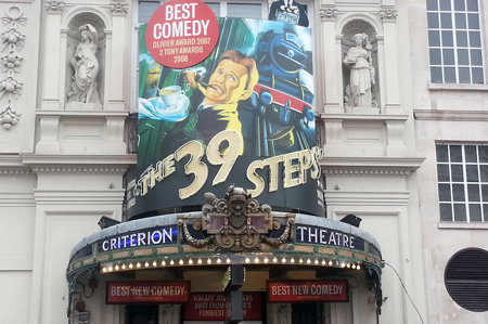 The 39 Steps at the Criterion Theatre, Piccadilly Circus