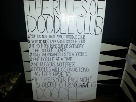The Rules of Doodle Club at Drink Shop &amp; Do